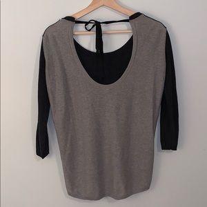 Aritzia Tops - ARITZIA BABATON Colourblock Tie Sweater